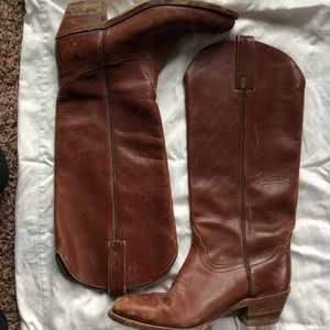 Frye Cowboy Boots with some signs of wear